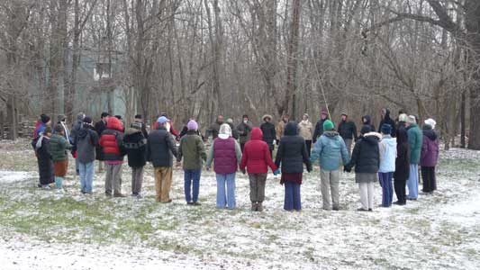 Circle During Walking Meditation